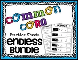 Common Core Math Practice Sheets
