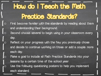 Common Core Math Practice Standards for Kids...Kid Friendly Terms!