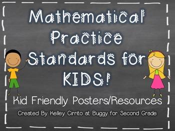 Common Core Math Practice Standards for Kids...Kid Friendl