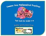 Common Core Standards for Mathematical Practice Task Cards Grades 3-8