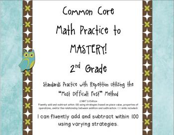 Common Core Math Practice to Mastery! 2nd Grade 2.NBT.5 Unit