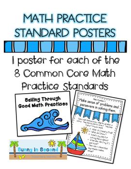 Common Core Math Practice Standards Bulletin Board Set