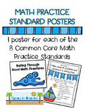 Common Core Math Practice Standards Bulletin Board Set