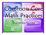 Common Core Math Practices Poster Set
