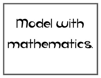 Common Core Math Practices Posters