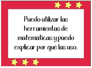 Common Core Math Practices Posters in English and Spanish