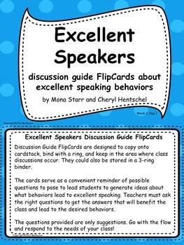 "Common Core Math Practices-Problem-Solving: ""Excellent Speakers"" Discussion Pack"