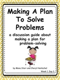"""Common Core Math Practices-Problem-Solving: """"Making a Plan"""" Discussion Pack"""