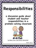 """Common Core Math Practices-Problem-Solving: """"Responsibilities"""" Discussion Pack"""