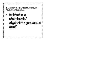 Common Core Math Practices Question Cards