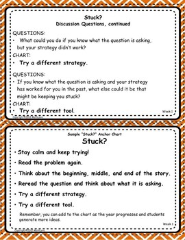 "Common Core Math Practices Through Problem-Solving:  ""Stuck?"" FlipCards"
