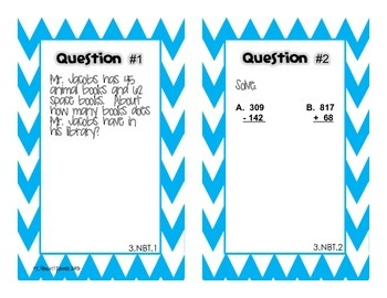 Back to School Math Pre-Assessment for 4th Grade {Task Cards}