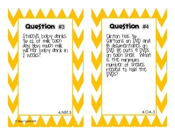 Back to School Math Pre-Assessment for 5th Grade {Task Cards}