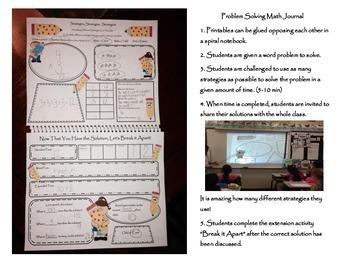 Common Core Math Problem Solving Journal Printables