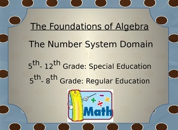 Common Core Math Problems (Number System)