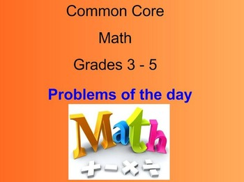Math Problems of the Day-Smart Board Modules 1-5 (Common Core)