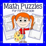 Math Puzzles - 5th Grade Common Core - Distance Learning