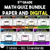 5th Grade Math Quiz Bundle - Digital and Paper