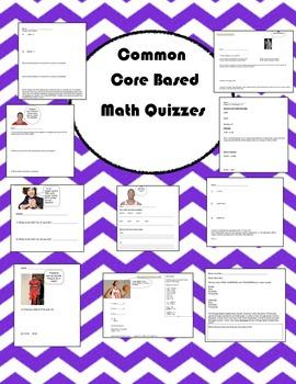 Common Core Math Quizzes