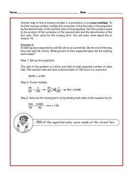 Common Core Math: Ratios, Proportions and Percents - Tutorial and Practice