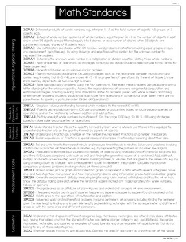 Common Core Math Reference Sheets - Grade 3