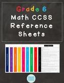 Common Core Math Reference Sheets - Grade 6