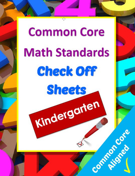 Common Core Math Reference and Checkoff Sheets - Kindergarten