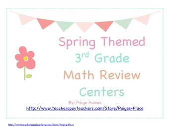 3rd Grade Common Core Math Review Centers