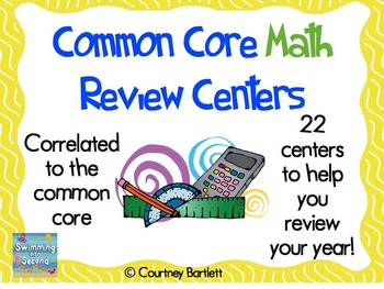 Common Core Math Review Centers for 2nd grade