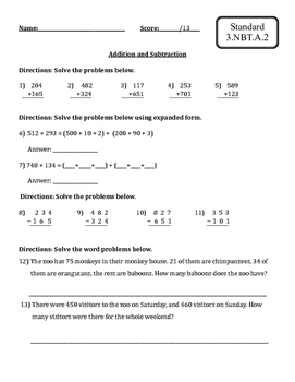 Common Core Math Review-Grade 3