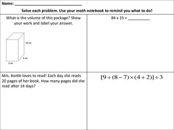 Common Core Math Review - Grades 4 and 5