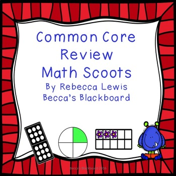 Common Core Math Review Scoots (Task Cards)