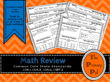 1st Grade Common Core Math Review: Set 5