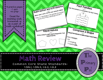Common Core Math Review: Subtraction, Fact Families, and Geometry Practice