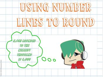 Rounding Using Number Lines: Student Work Mats