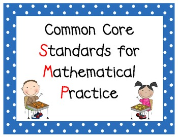 Common Core Math SMP posters -(Standards for Mathematical Practice)
