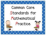 Common Core Math SMP Anchor Charts - (Standards for Mathem