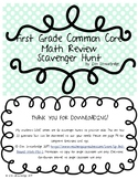 Common Core Math Scavenger Hunt- First Grade Review