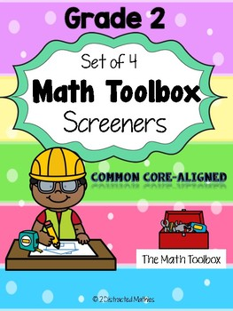 Common Core Math Screeners--Grade 2  (set of 4)
