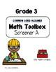 Common Core--Math Screeners--Grade 3  (set of 4)