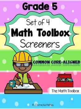 Common Core--Math Screeners--Grade 5  (set of 4)