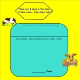 Common Core Math: Smartboard Addition Word Problems (Unknown-Missing Number)