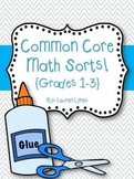 Common Core Math Sorts! {Grades 1-3}