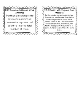 Common Core Math Standard Labels 2nd Grade