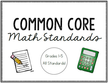 Common Core Math Standards (Grades 1-5)