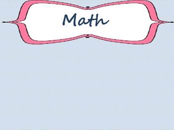 Common Core Math Standards 5th grade Posters