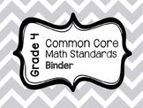 Common Core Math Standards Binder - Fourth Grade