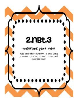 Common Core Math Standards Binder - Second Grade