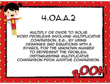 Common Core Math Standards Cards