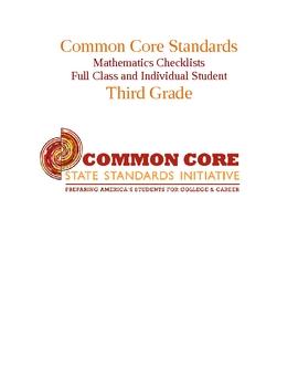 Common Core Math Standards Chart - Third Grade.docx